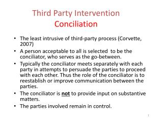 Third Party Intervention Conciliation