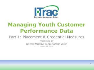 Managing Youth Customer Performance Data