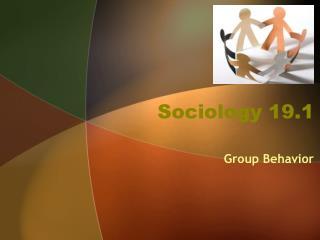 Sociology 19.1
