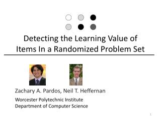 Detecting the Learning Value of Items In a Randomized Problem Set