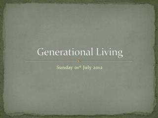 Generational Living