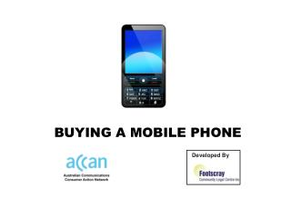 BUYING A MOBILE PHONE