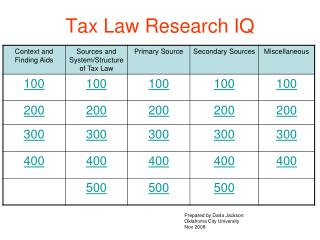 Tax Law Research IQ