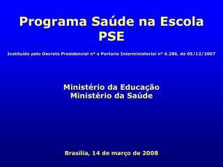 Institu do pelo Decreto Presidencial n  a Portaria Interministerial n  6.286, de 05