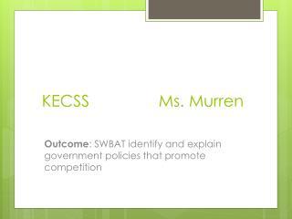 KECSS Ms.  Murren