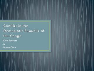 Conflict  in the Democratic Republic of the Congo