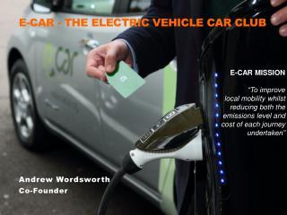 E-CAR MISSION