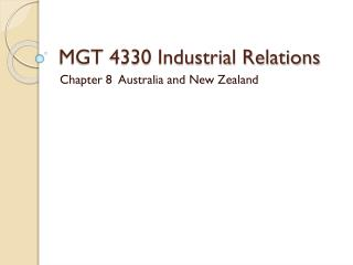 MGT 4330 Industrial Relations
