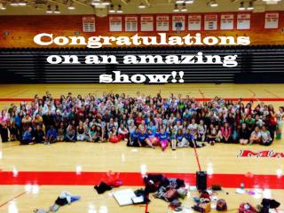 Congratulations on an amazing show!!