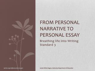 From personal narrative to personal essay