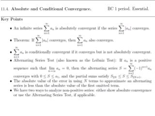 DEFINITION   Absolute  Convergence