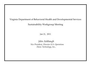 Virginia  Department of Behavioral Health and Developmental Services