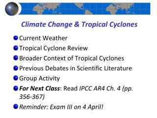 Climate Change & Tropical Cyclones