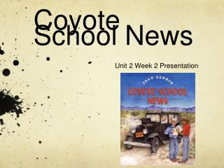 Coyote School News