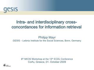 Intra- and interdisciplinary cross-concordances for information retrieval