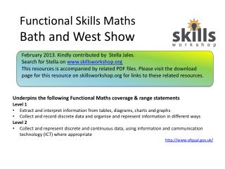 Functional Skills Maths Bath and West Show
