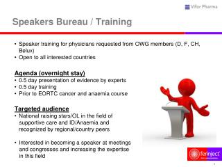 Speakers Bureau / Training