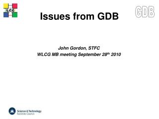 Issues from GDB