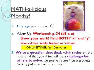 MATH-a- licious Monday!