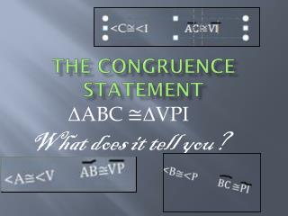 The Congruence Statement