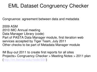 EML Dataset Congruency Checker