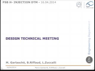 DESIGN TECHNICAL MEETING