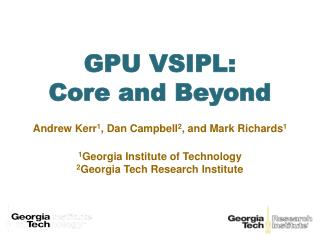 GPU VSIPL: Core and Beyond