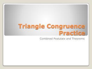 Triangle Congruence Practice