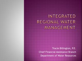 Integrated Regional Water Management