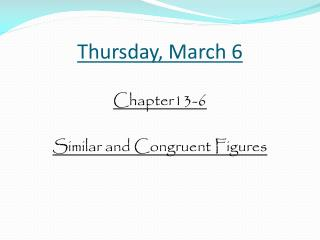 Thursday , March  6