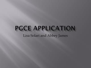 PGCE Application