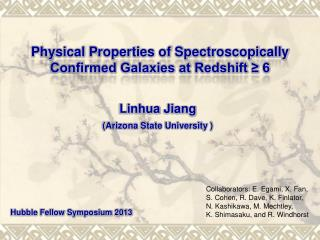 Physical Properties of Spectroscopically Confirmed Galaxies at Redshift ≥ 6