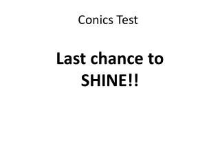 Conics Test
