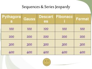 Sequences & Series Jeopardy