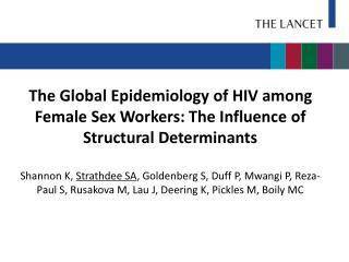 HIV Burden among Female Sex Workers (FSWs)
