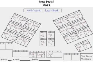 New Seats! Block 1