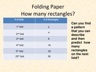 Folding Paper How many  rectangles?