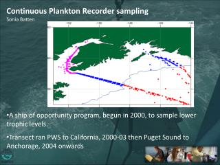Continuous  Plankton Recorder sampling Sonia Batten