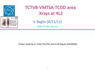 TCTVB-VMTSA-TCDD area Xrays  at 4L2