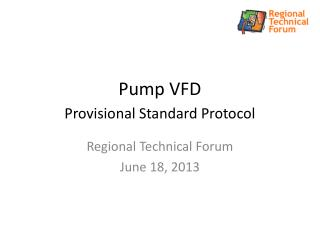 Pump VFD  Provisional Standard Protocol