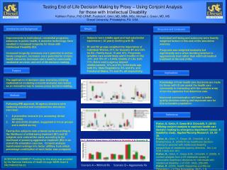 Testing End-of-Life Decision Making by Proxy – Using Conjoint Analysis