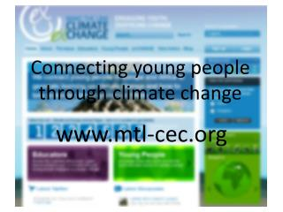 Connecting young people through climate change