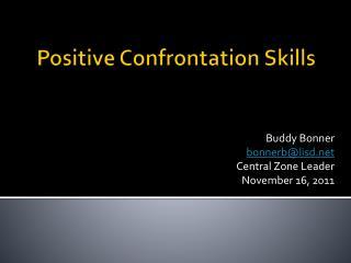 Positive Confrontation Skills