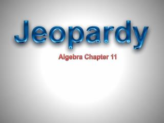 Algebra Chapter 11