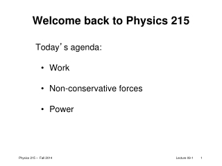 Welcome back to Physics