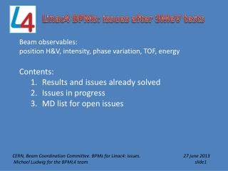 Linac4 BPMs: issues after 3MeV tests