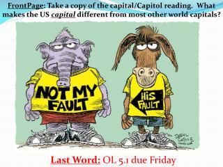 Last Word: OL 5.1 due Friday