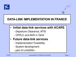 DATA-LINK IMPLEMENTATION IN FRANCE