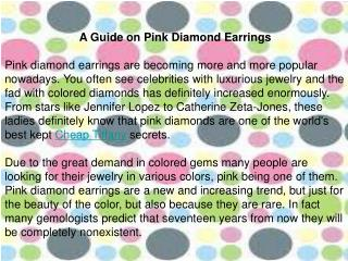 A Guide on Pink Diamond Earrings