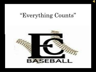 """Everything Counts"""